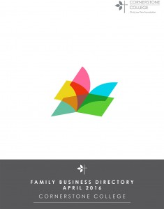 Cornerstone College Family Business Directory April 2016 COVER